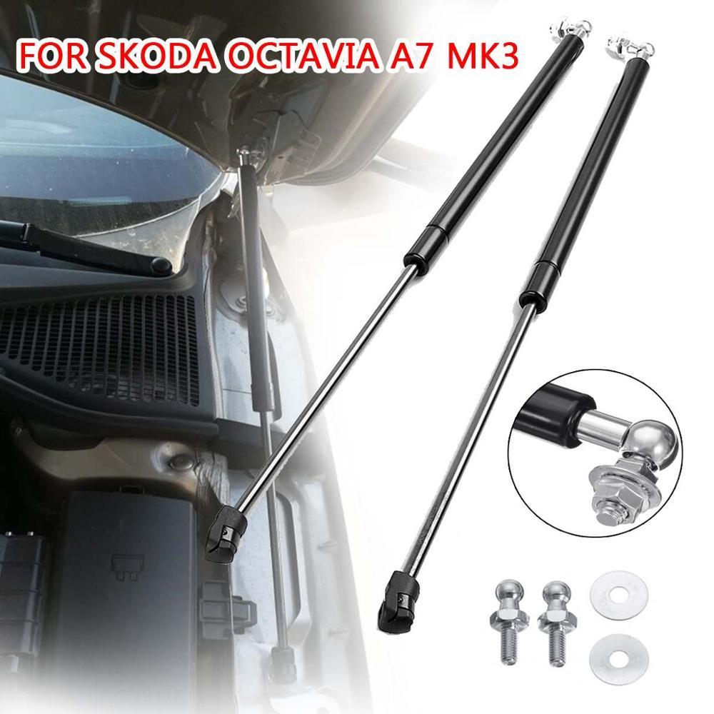 2Pcs Car Front Gas Shock Hood Shock Strut Damper Lift Support For Skoda Octavia A7 MK3 2012- 2020 A5 MK2(1Z)2004-2013